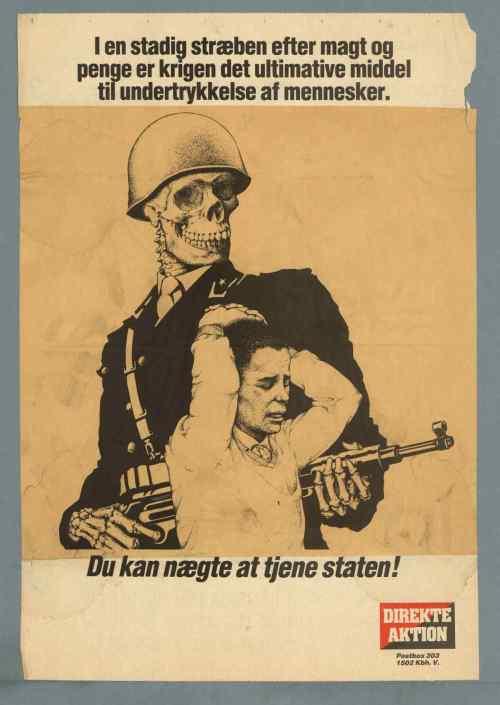 ASO/direkte aktion-plakat: Du kan nægte at tjene staten!