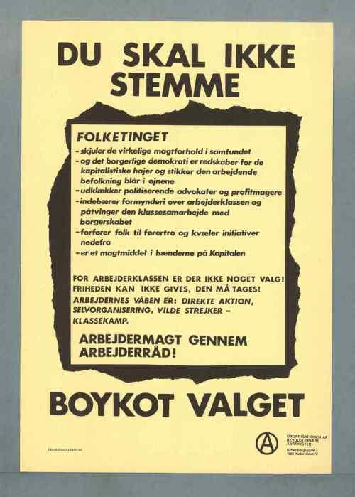 ORA: Du skal ikke stemme- Boykot vaglet